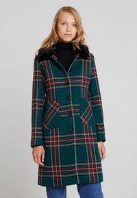 King Louie - NATHALIE COAT HIGHLANDS - Płaszcz wełniany /Płaszcz klasyczny - black - 0