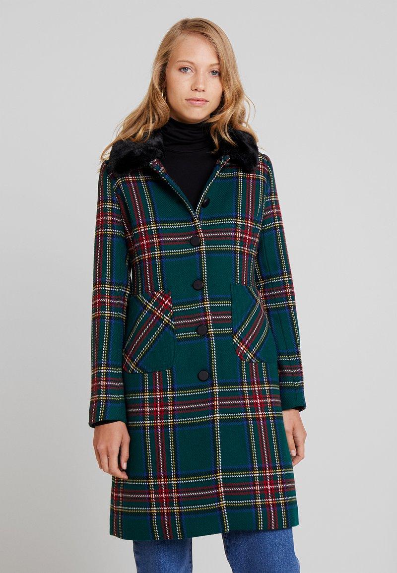 King Louie - NATHALIE COAT HIGHLANDS - Płaszcz wełniany /Płaszcz klasyczny - black