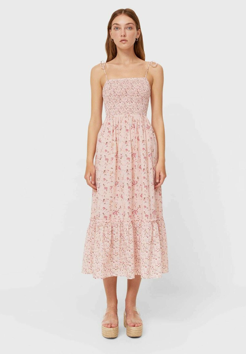 Stradivarius - MIT BLUMEN - Day dress - light pink