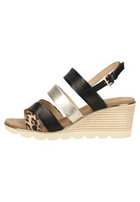 Caprice - Wedge sandals - leo comb 939 - 0
