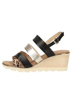 Wedge sandals - leo comb 939