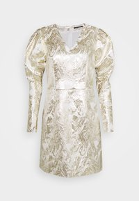 Bruuns Bazaar - GOLDIE ART DRESS - Day dress - white/gold - 0