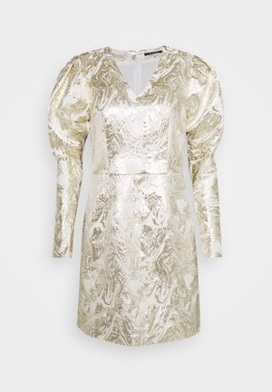 GOLDIE ART DRESS - Day dress - white/gold