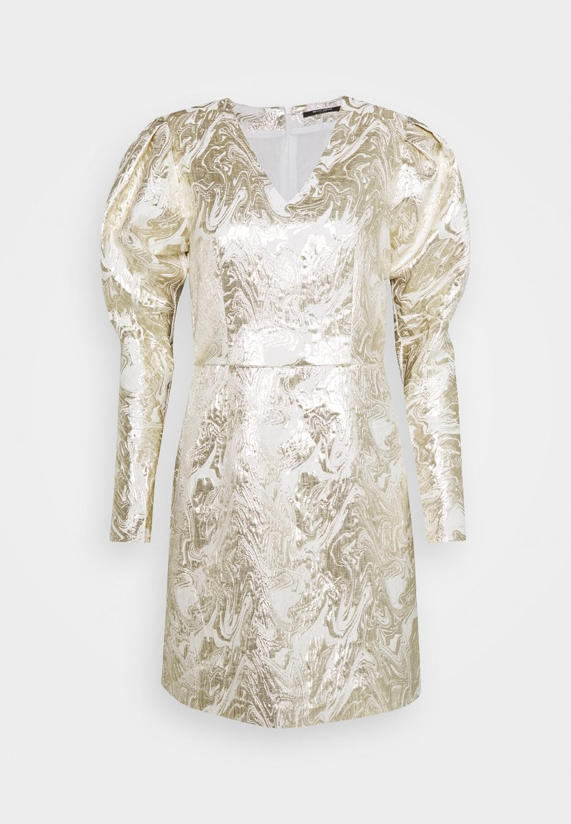 Bruuns Bazaar - GOLDIE ART DRESS - Day dress - white/gold