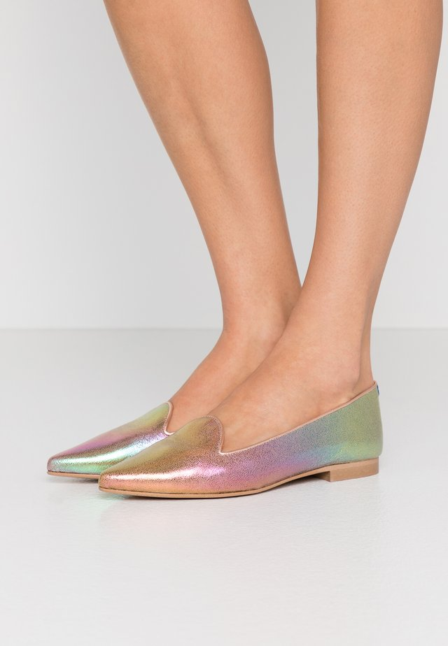 FRANÇOIS POINTY - Mocassins - rainbow metallic/rose gold