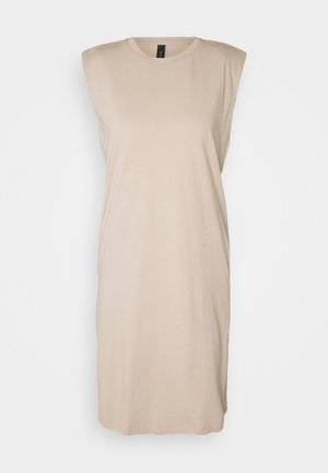 YASSARITA PADDED SHOULDER - Žerzejové šaty - simply taupe