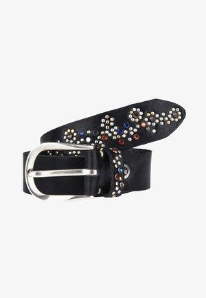 MIT BUNTEN STRASSSTEINEN - Belt - black
