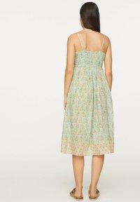 OYSHO - TURQUOISE INDIAN COTTON NIGHTDRESS - Day dress - turquoise - 1