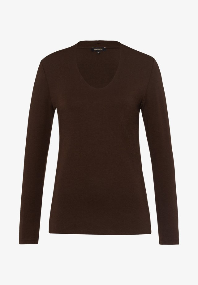 Long sleeved top - braun
