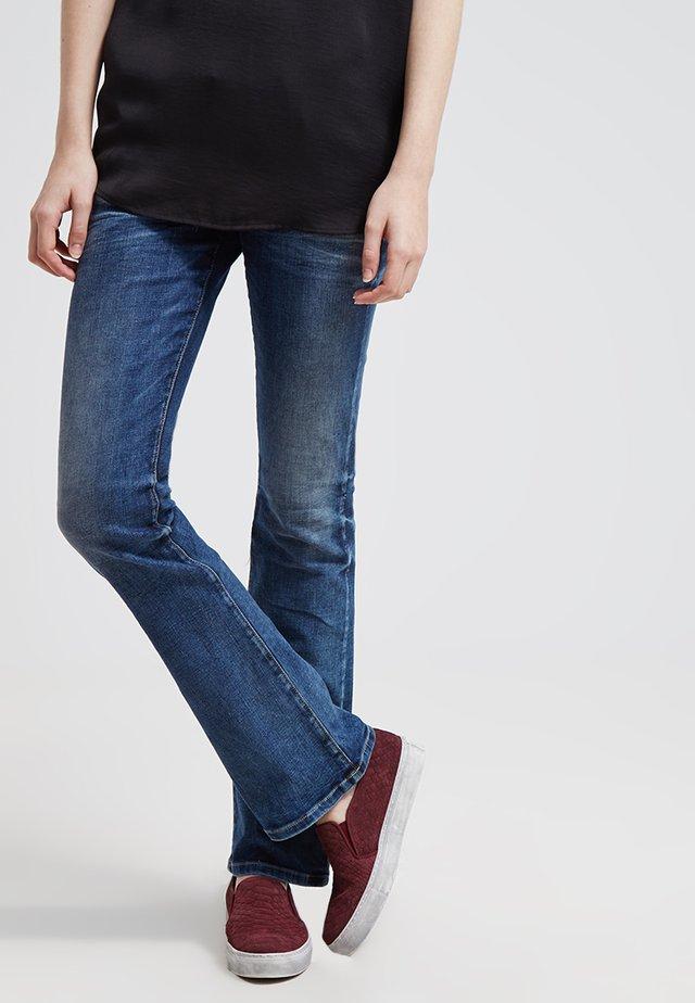 VALERIE - Bootcut jeans - blue lapis wash