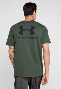 Under Armour - SPORTSTYLE BACK TEE - T-shirts print - baroque green/black - 2