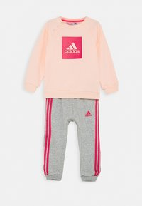 adidas Performance - LOGO SET UNISEX - Chándal - haze coral/power pink/medium grey heather/power pink - 0