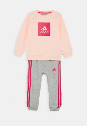LOGO SET UNISEX - Tracksuit - haze coral/power pink/medium grey heather/power pink