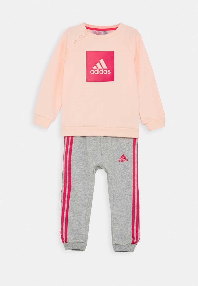 adidas Performance - LOGO SET UNISEX - Chándal - haze coral/power pink/medium grey heather/power pink