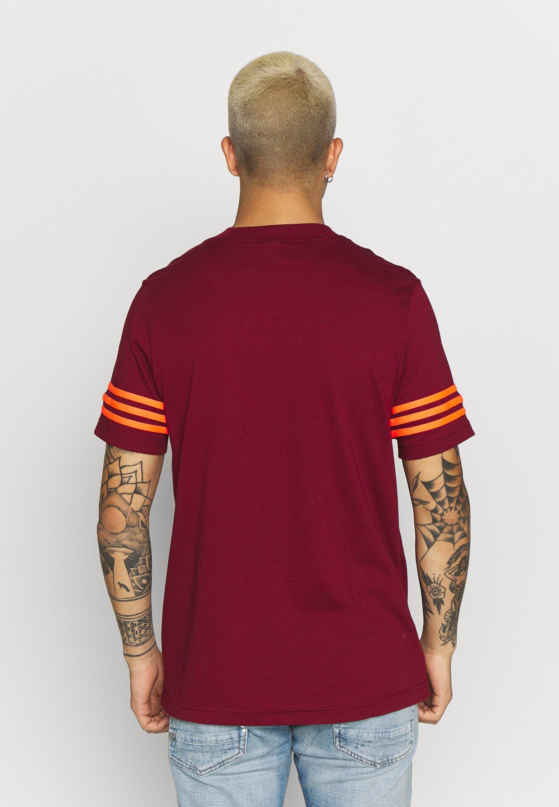 adidas Originals OUTLINE TEE - Print T-shirt - collegiate burgundy l0Klz