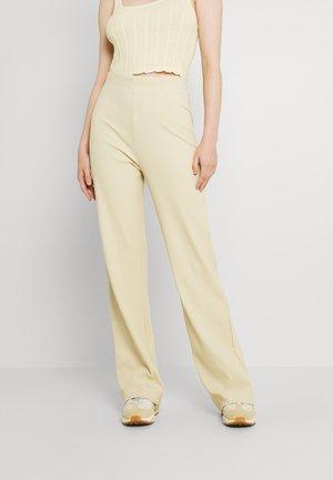CLARA TOUSERS - Kalhoty - light yellow