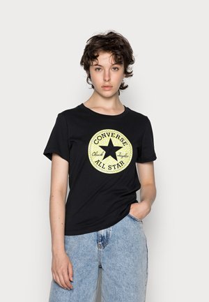 CHUCK TAYLOR ALL STAR LEOPARD PATCH TEE - Print T-shirt - black