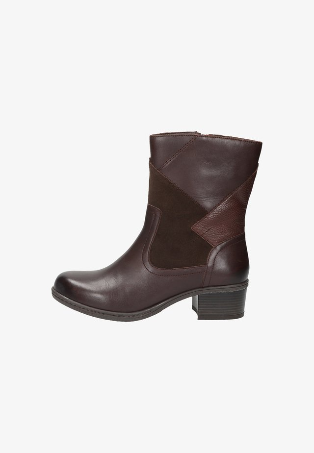 Platform ankle boots - middle brown