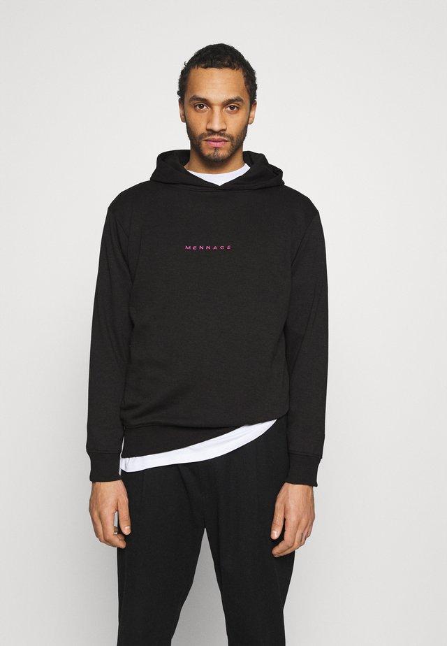 ESSENTIAL REGULAR HOODIE UNISEX - Bluza z kapturem - black