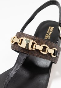 MICHAEL Michael Kors - CHARLTON - T-bar sandals - black/brown - 2