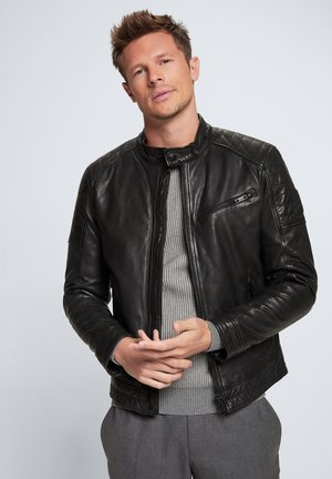 ROVIO - Leather jacket - schwarz