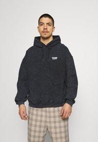 Vintage Supply - CORE OVERDYE HOODIE - Sweatshirt - black - 0
