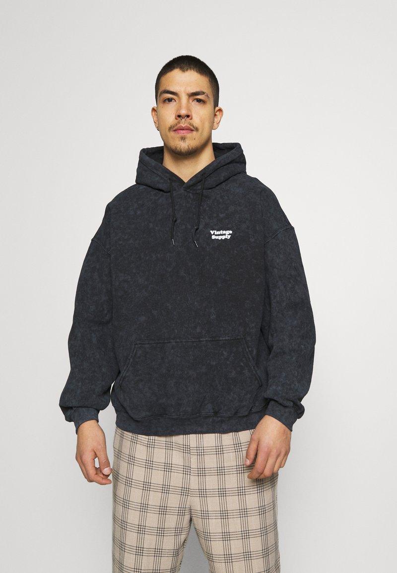 Vintage Supply - CORE OVERDYE HOODIE - Sweatshirt - black