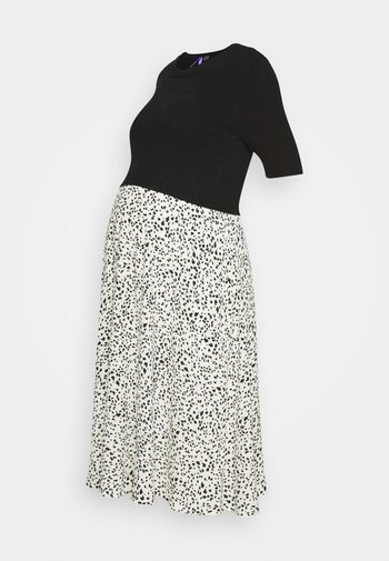 2 IN 1 POLLYANNA DRESS WITH PRINTED SKIRT