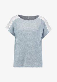 ONLY - ONLMIRA - Camiseta estampada - insignia blue/cloud dancer - 4