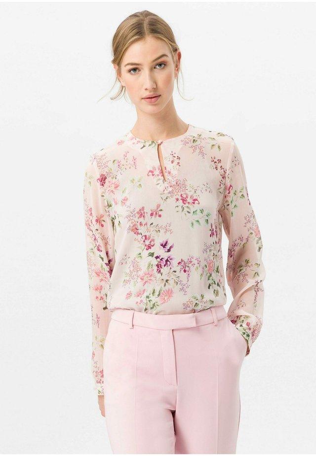 BLUSE RUNDHALS-AUSSCHNITT - Blouse - rosé/multicolor