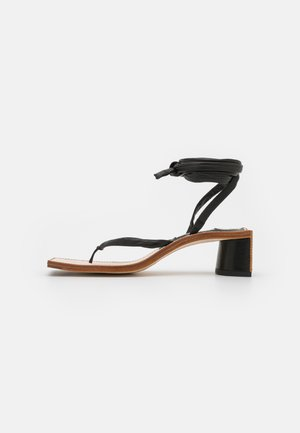 LESLIE - T-bar sandals - black