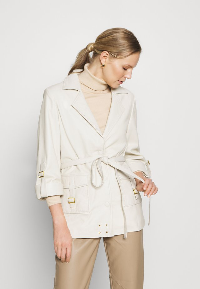 MAE - Leather jacket - cream