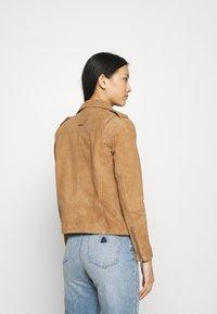 Deadwood - RIVER - Leather jacket - brandy - 2