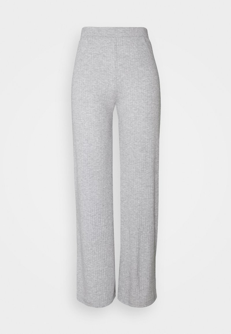 Pieces - PANTS - Leggings - Trousers - light grey melange