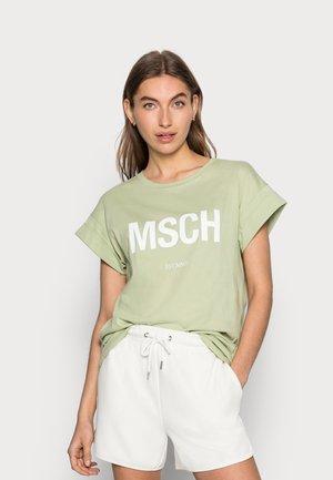 ALVA SEASONAL TEE - Basic T-shirt - reseda/white