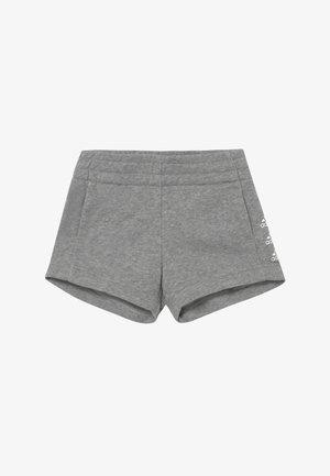 SHORT - Urheilushortsit - medium grey heather/white