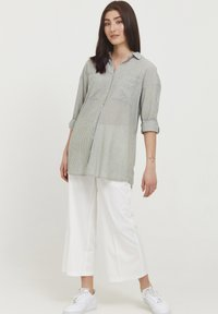 b.young - BYFIE STRIPE - Button-down blouse - olivine mix - 1