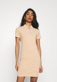 ONLY - ONLEMMA DRESS - Jersey dress - ginger root - 0