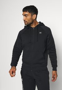 Under Armour - RIVAL  - Zip-up hoodie - black/onyx white - 0
