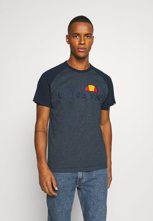 COPER - T-shirt imprimé - navy marl