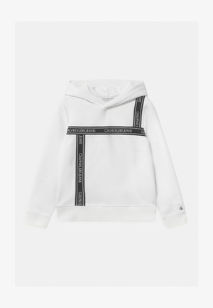 LOGO TAPE HOODIE UNISEX - Sweat à capuche - white