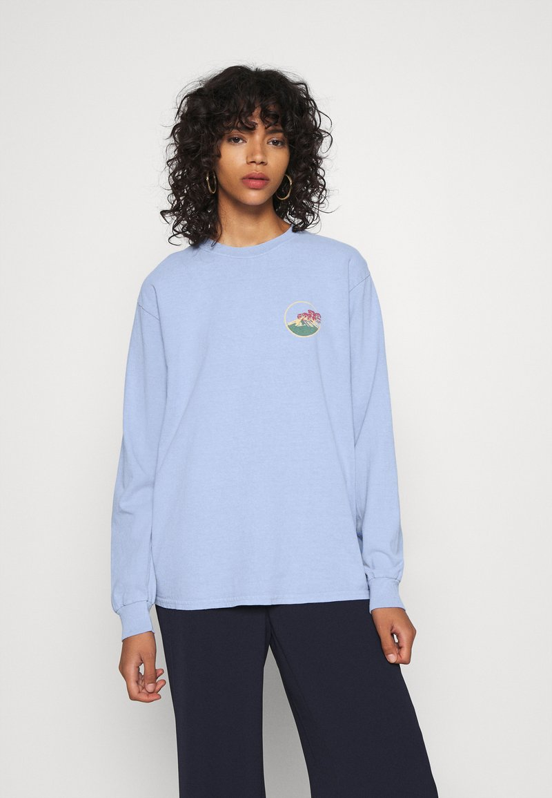 BDG Urban Outfitters - SKATE GRAPHIC TEE - Long sleeved top - baby blue