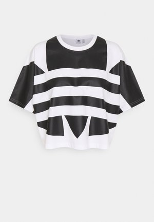 LOGO TEE - T-shirt print - white/black