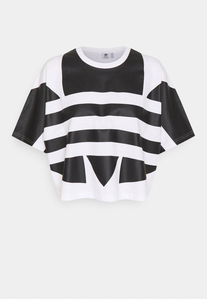 adidas Originals - LOGO TEE - T-shirts med print - white/black