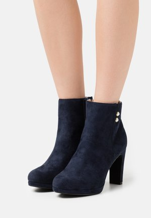 Platform ankle boots - dark blue