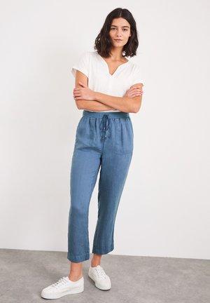 ARIA - Trousers - jeansblau