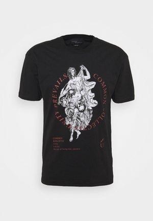 PREVAIL UNISEX - Print T-shirt - black
