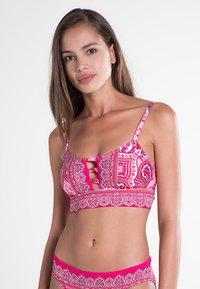 Lauren Ralph Lauren - AEGAN PAISLEY OTS BRALETTE - Bikini top - pink - 0
