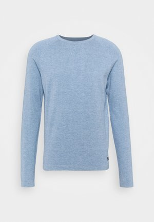 BASIC CREWNECK - Strikpullover /Striktrøjer - soft light blue melange