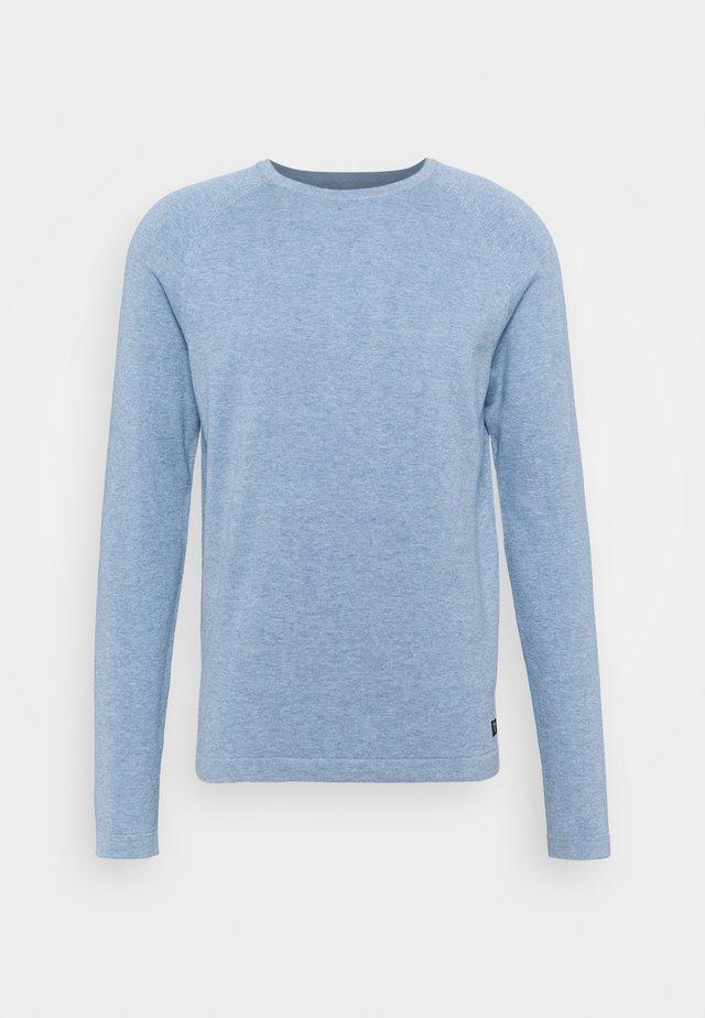 BASIC CREWNECK - Trui - soft light blue melange